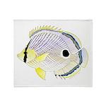 Foureye Butterflyfish Throw Blanket