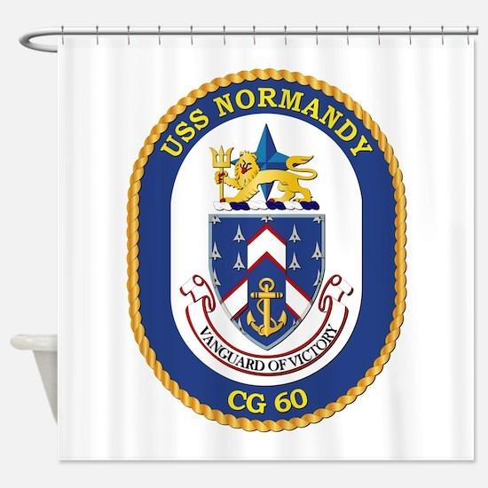 USS Normandy (CG-60) Shower Curtain