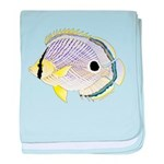 Foureye Butterflyfish c baby blanket