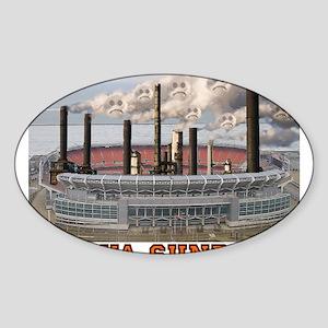 factoryofsadnesscolor Sticker (Oval)