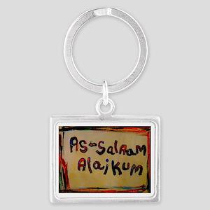 peace be unto you Landscape Keychain