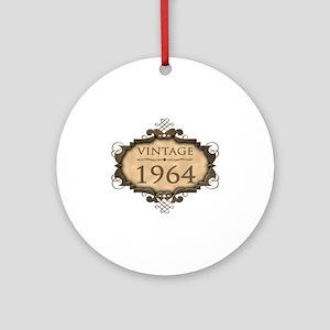 1964 Birth Year (Rustic) Ornament (Round)