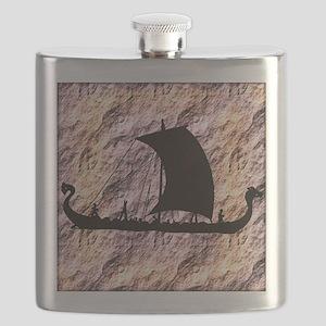 viking boat Flask