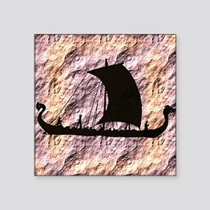 "viking boat Square Sticker 3"" x 3"""