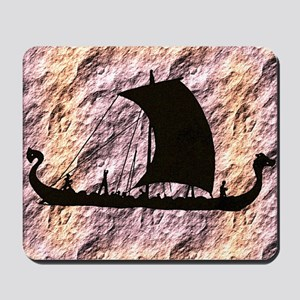 viking boat Mousepad