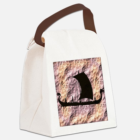 viking boat Canvas Lunch Bag