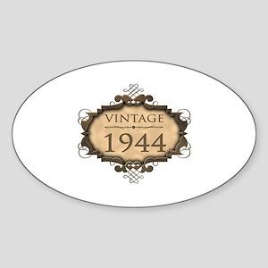 1944 Birth Year (Rustic) Sticker (Oval)