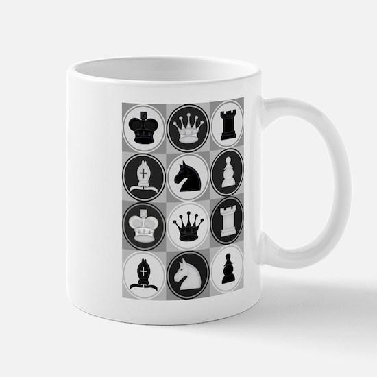 Chessboard Pattern Mugs