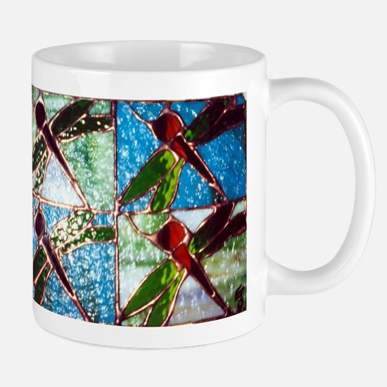 Stained Glass Dragonfly Mugs