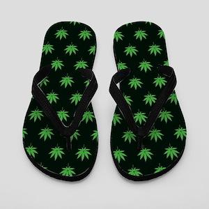 Pot Weed High Hippie Cronic Flip Flops