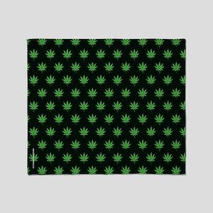 Pot Weed High Hippie Cronic Throw Blanket
