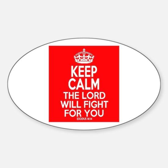 Keep Calm Exodus Sticker (Oval)
