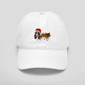 Basset Tangled In Christmas Lights Baseball Cap