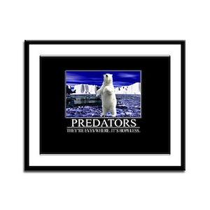 Predators Framed Panel Print