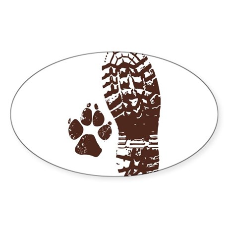 Hiking Boot n Paw Sticker
