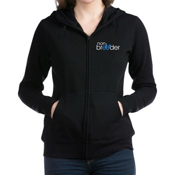 Non-Breeder - Male Women's Zip Hoodie