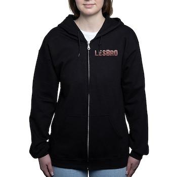Red Lesbro Women's Zip Hoodie