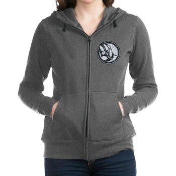 Distressed Wild Elephant Stam Women's Zip Hoodie