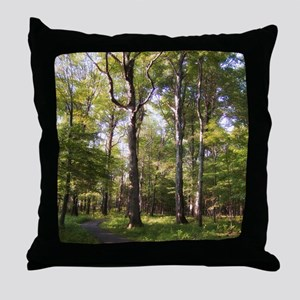 nature trail Throw Pillow