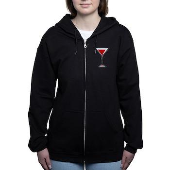 Vampire Martini Women's Zip Hoodie