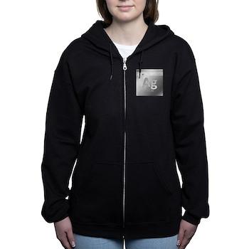 Silver (Ag) Women's Zip Hoodie