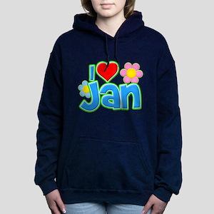 I Heart Jan Woman's Hooded Sweatshirt