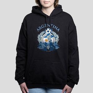 Argentina Soccer Woman's Hooded Sweatshirt