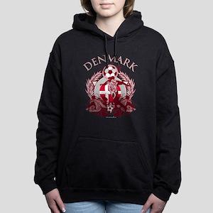 Denmark Soccer Woman's Hooded Sweatshirt