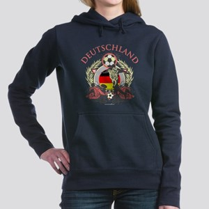 Deutschland Soccer Woman's Hooded Sweatshirt
