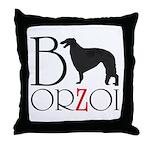 Borzoi Logo Throw Pillow