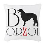 Borzoi Logo Woven Throw Pillow