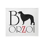 Borzoi Logo Throw Blanket