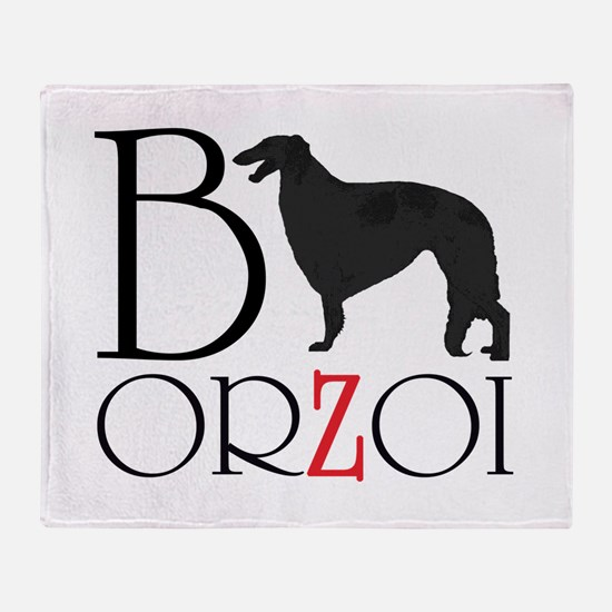 Borzoi Logo Throw Blanket