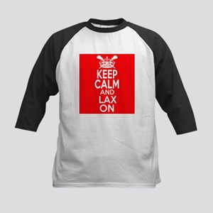 Keep Calm LAX On Kids Baseball Jersey