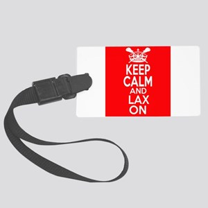Keep Calm LAX On Large Luggage Tag