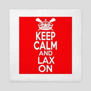 Keep Calm LAX On Queen Duvet