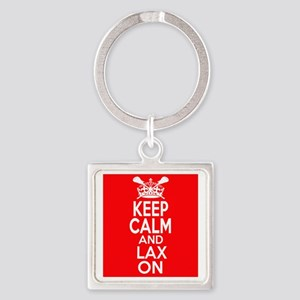 Keep Calm LAX On Square Keychain