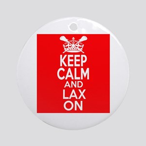 Keep Calm LAX On Ornament (Round)
