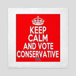 Keep Calm Conservative Queen Duvet