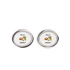Pizza Addict Oval Cufflinks