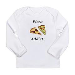 Pizza Addict Long Sleeve Infant T-Shirt