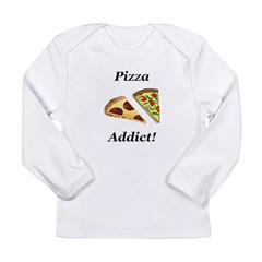 Pizza Addict Long Sleeve Infant T-Shirt