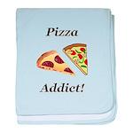 Pizza Addict baby blanket