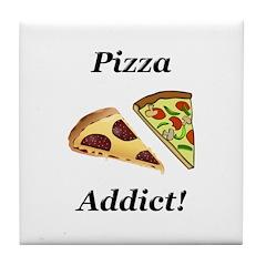 Pizza Addict Tile Coaster