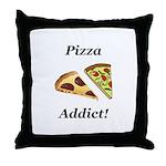 Pizza Addict Throw Pillow