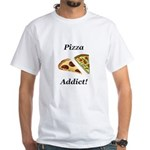 Pizza Addict White T-Shirt