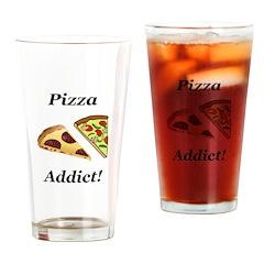 Pizza Addict Drinking Glass