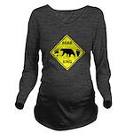 Bear and Tracks XING Long Sleeve Maternity T-Shirt