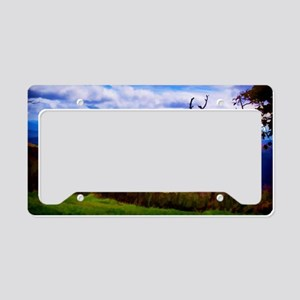 Painting the Mountain License Plate Holder