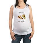 Pizza Junkie Maternity Tank Top